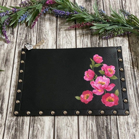 WHBM Floral Studded Clutch Wristlet